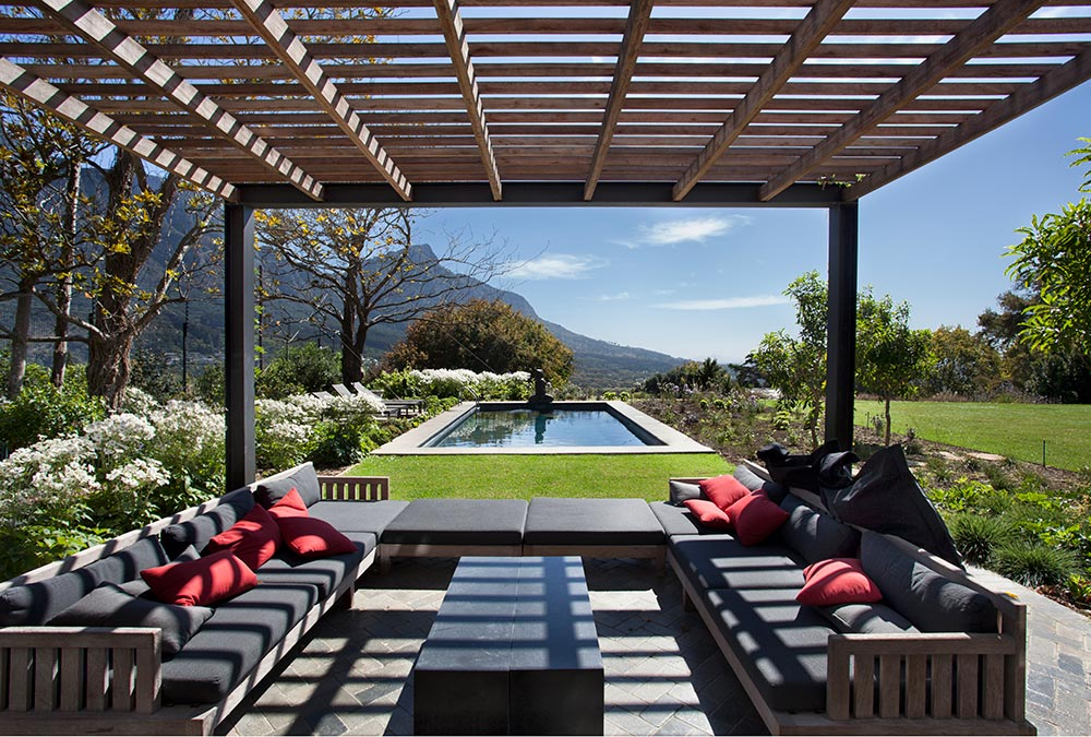 Pergola project for a client in bishops court cape town - Hout pergola dekking ...