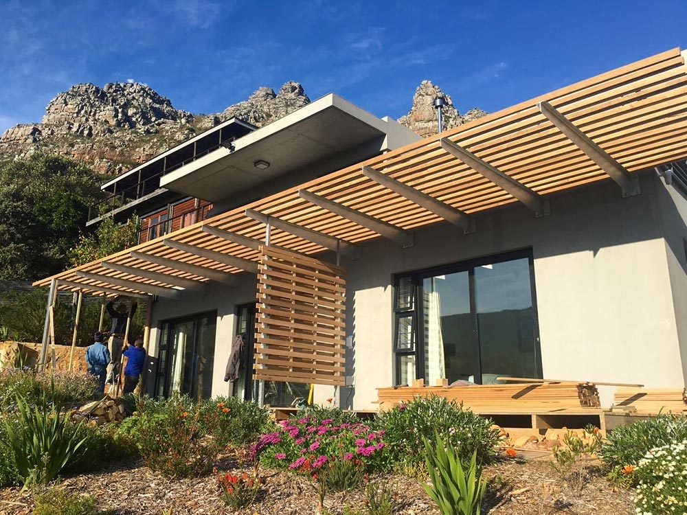 Pergola Project Done For Clients In Saffron Road Hout Bay